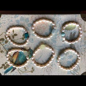 Pearl Bracelets with Gemstones